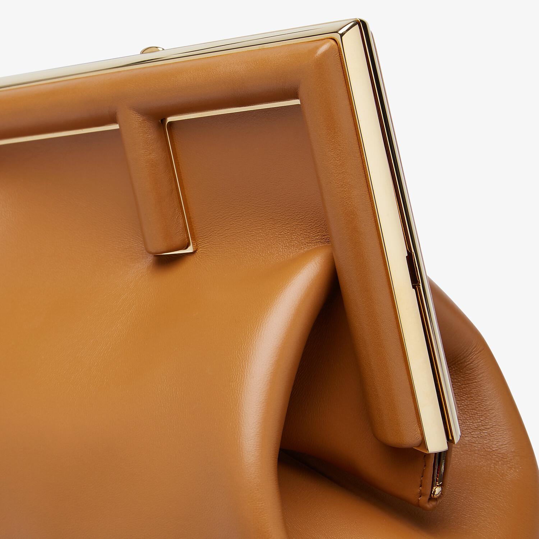 FENDI FENDI FIRST MEDIUM - Brown leather bag - view 6 detail
