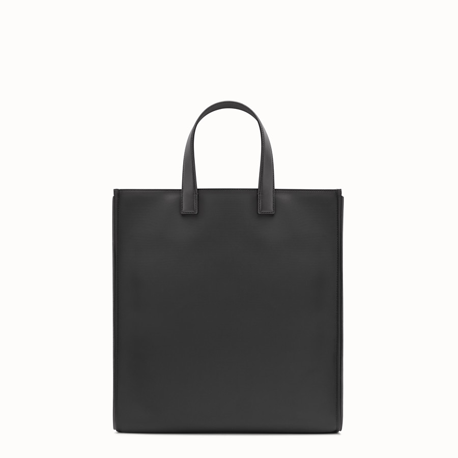 FENDI TOTE - in nylon and black leather - view 3 detail