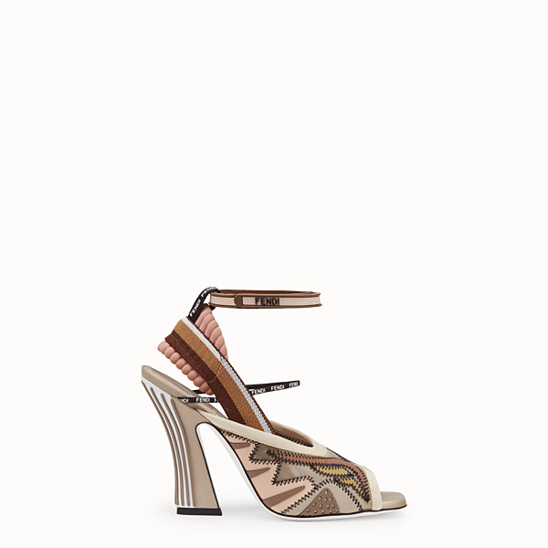FENDI SANDALS - Sandals in pink technical mesh - view 1 small thumbnail