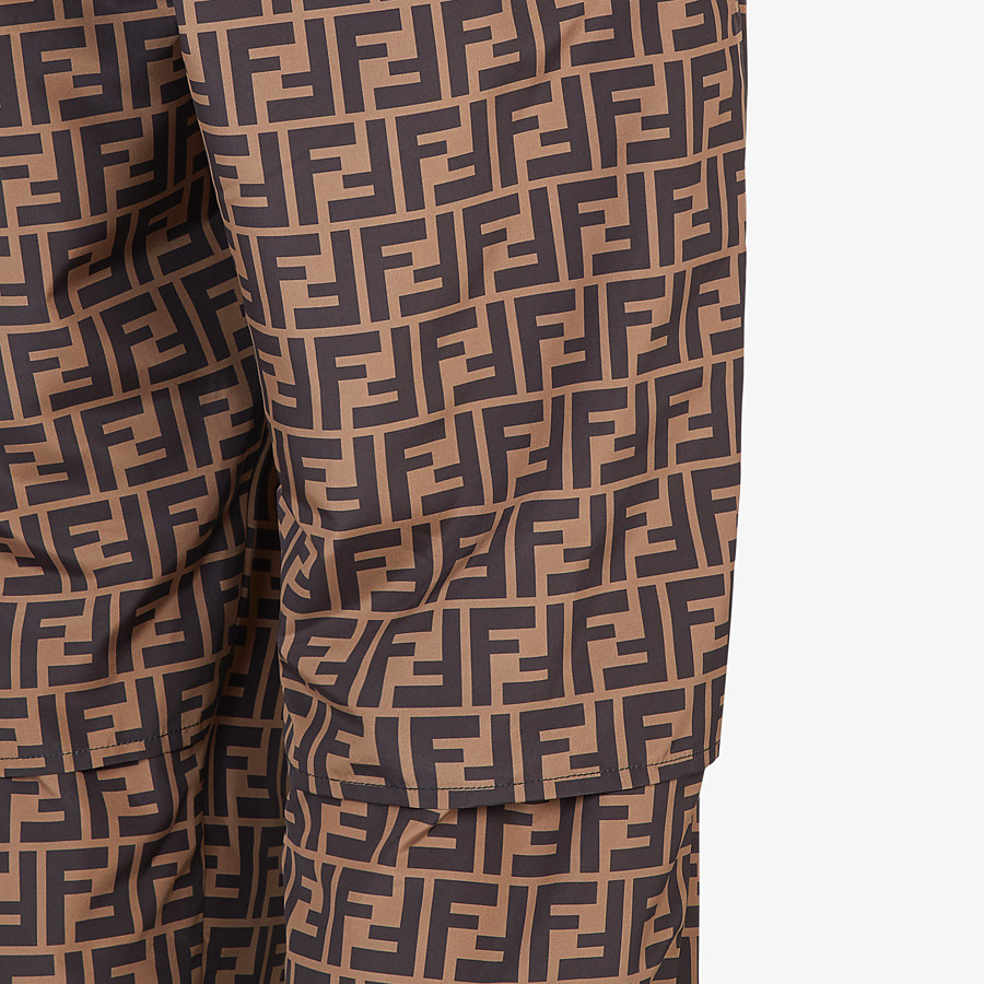 FENDI PANTS - Brown nylon pants - view 3 detail
