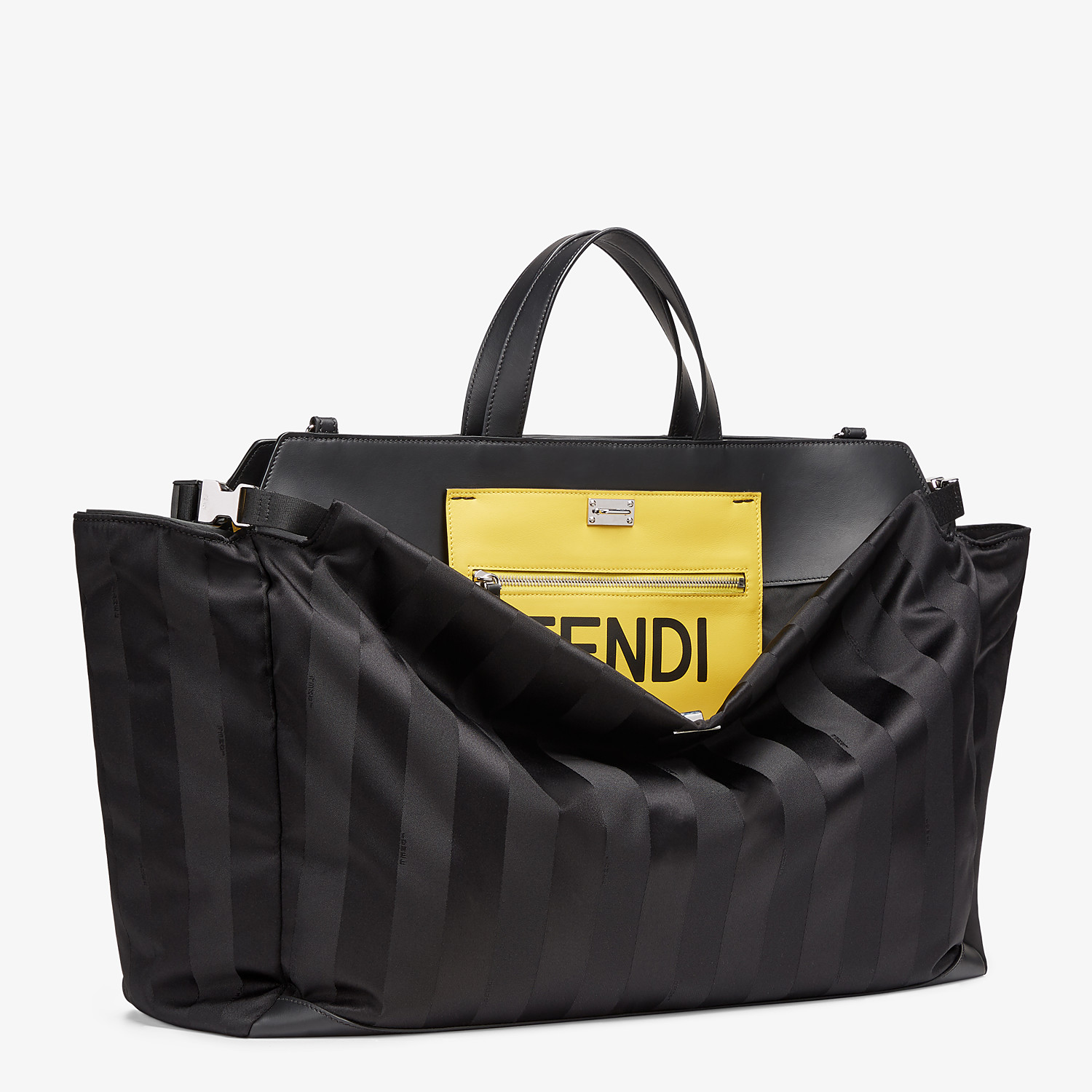 FENDI PEEKABOO ICONIC LARGE - Black nylon bag - view 2 detail