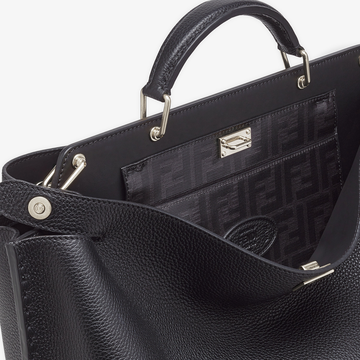 FENDI PEEKABOO ICONIC ESSENTIAL - Sac en cuir noir - view 5 detail