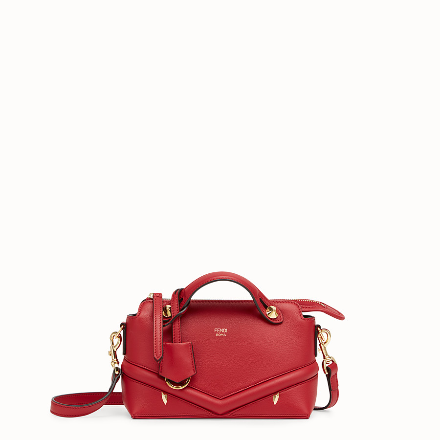 FENDI BY THE WAY MINI - Small red leather Boston bag - view 1 detail