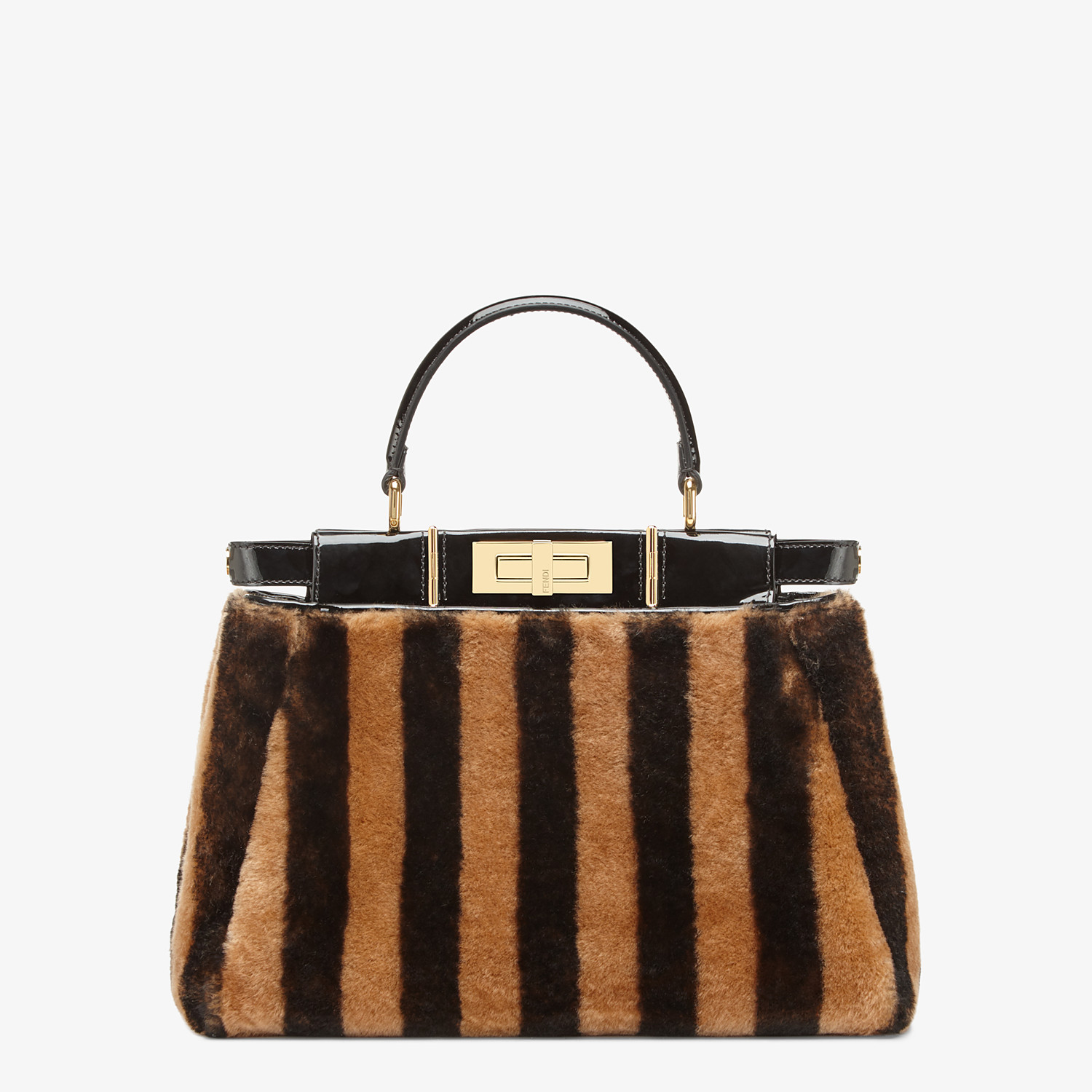 FENDI PEEKABOO ICONIC MEDIUM - Borsa in montone e vinile multicolor - vista 3 dettaglio