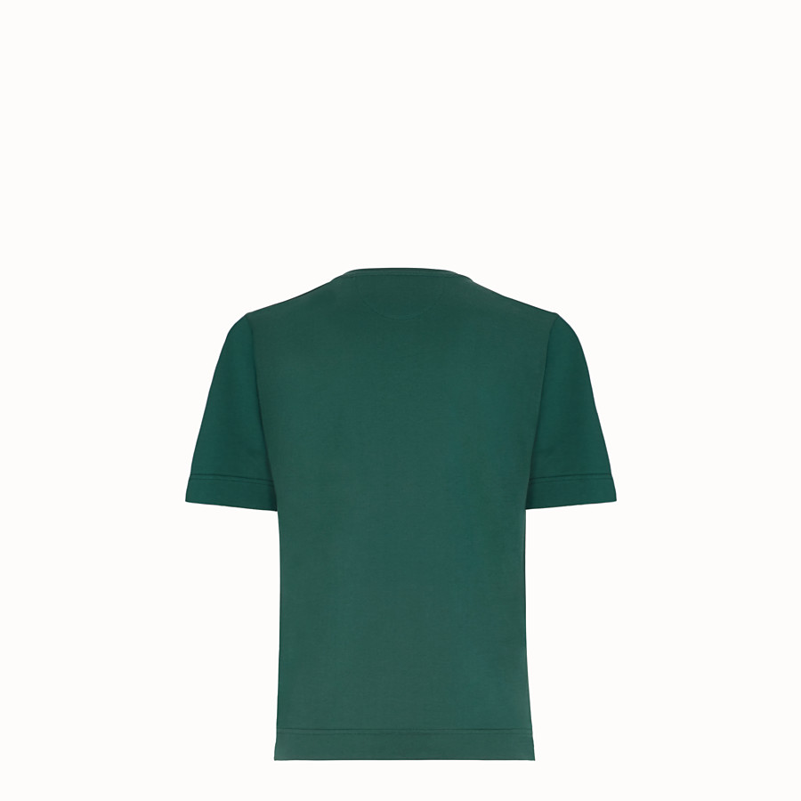 FENDI T-SHIRT - Green cotton T-shirt - view 2 detail