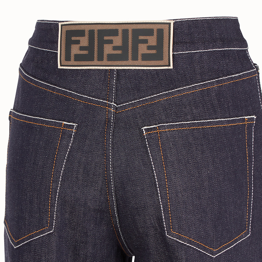FENDI PANTS - Blue denim pants - view 3 detail