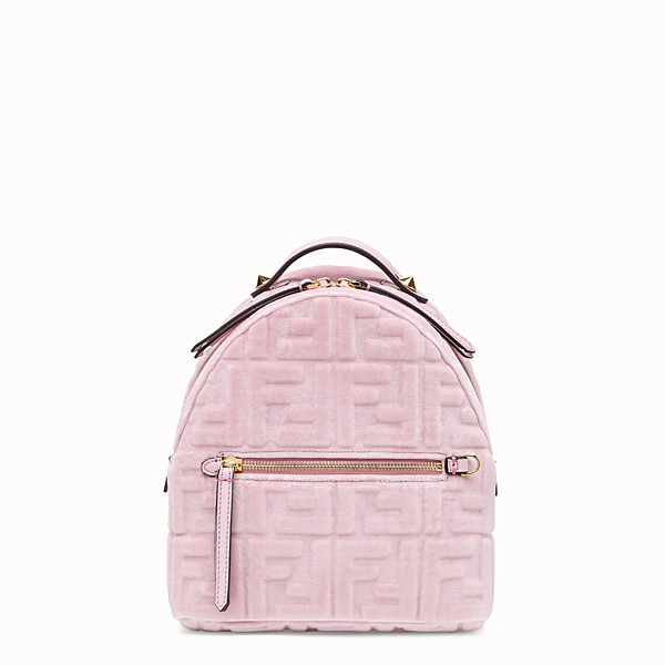 FENDI MINI BACKPACK - Small velvet backpack - view 1 small thumbnail