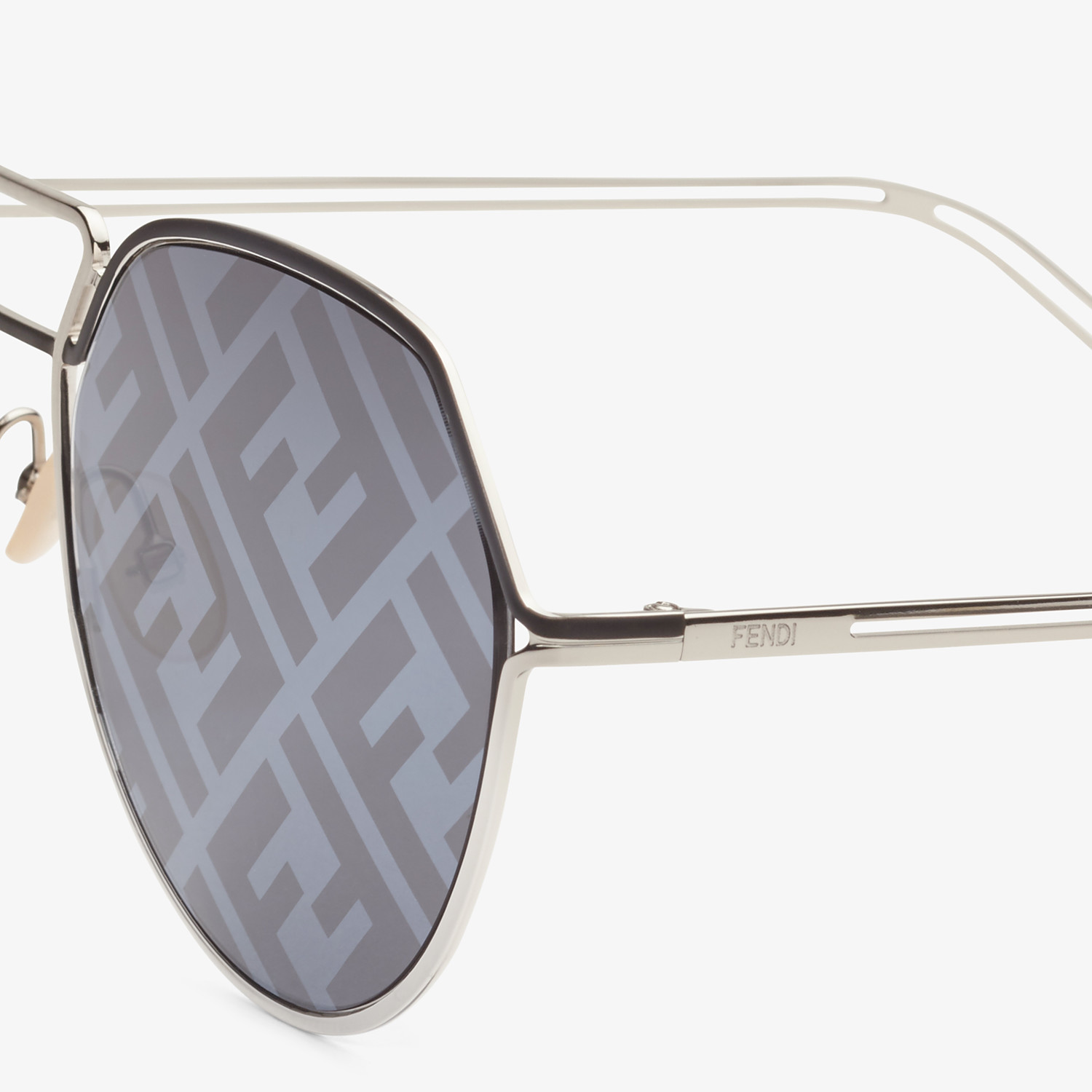 FENDI FENDI GRID - Black and palladium sunglasses - view 3 detail