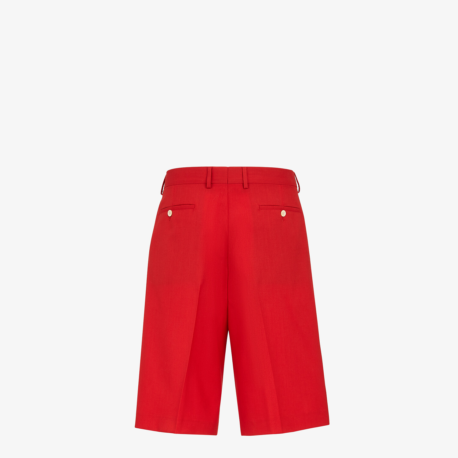 FENDI BERMUDAS - Red wool pants - view 2 detail