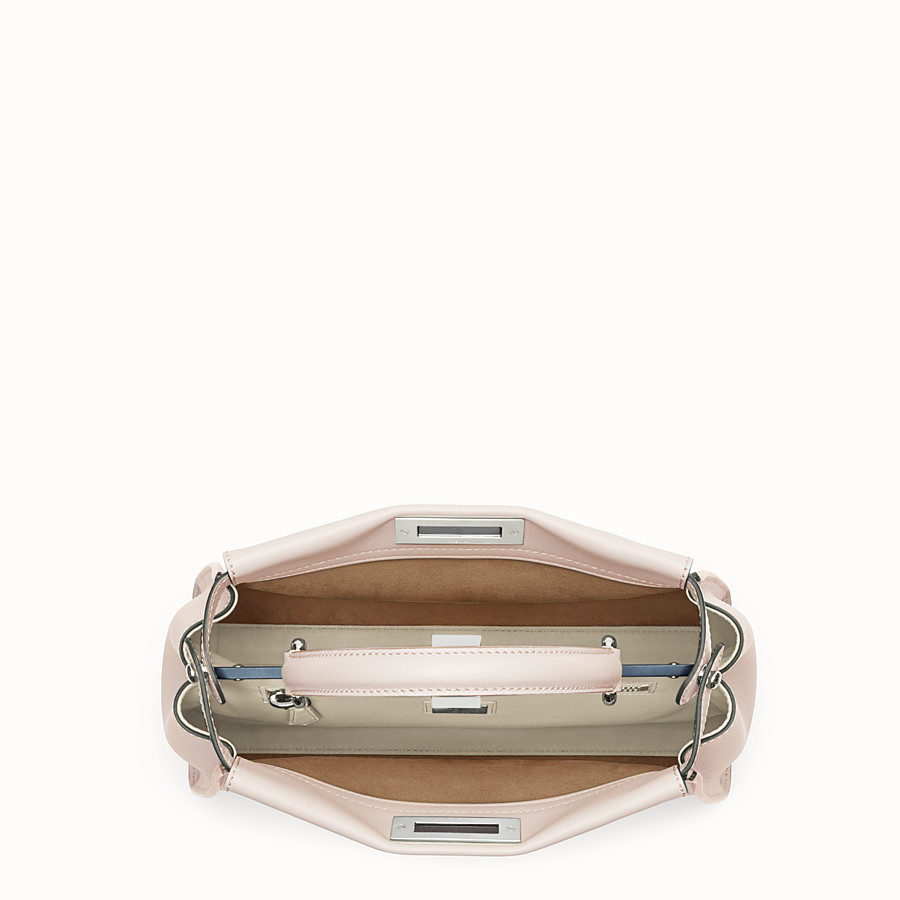 FENDI PEEKABOO REGULAR - Pink leather bag - view 4 detail