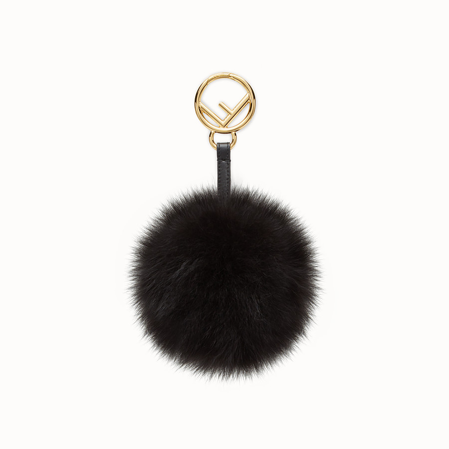 FENDI POM-POM CHARM - Black fox fur charm - view 1 detail