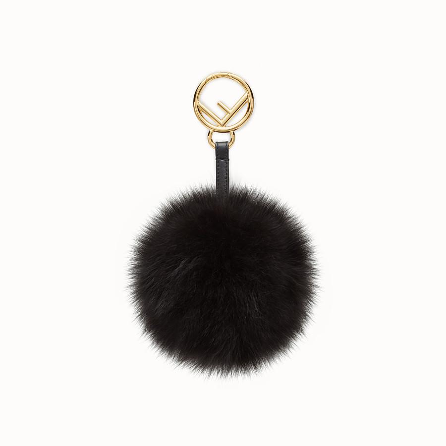 b1d95c560b3d Black fox fur charm - POM-POM CHARM