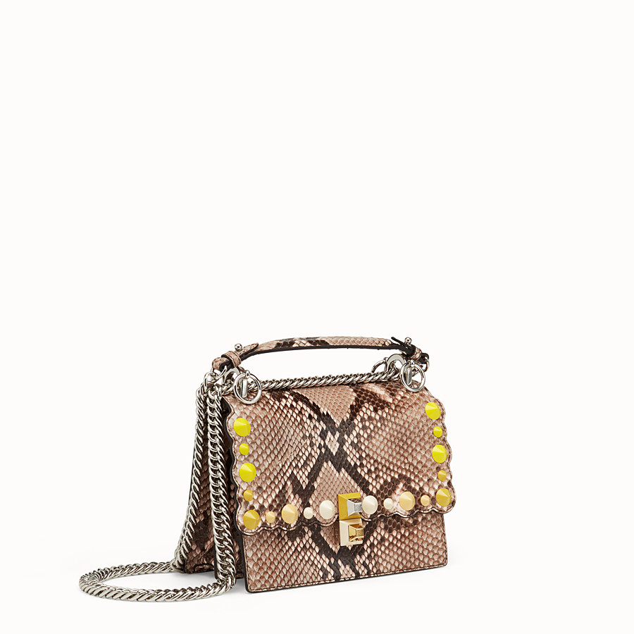 FENDI KAN I SMALL - Pink python mini-bag - view 2 detail