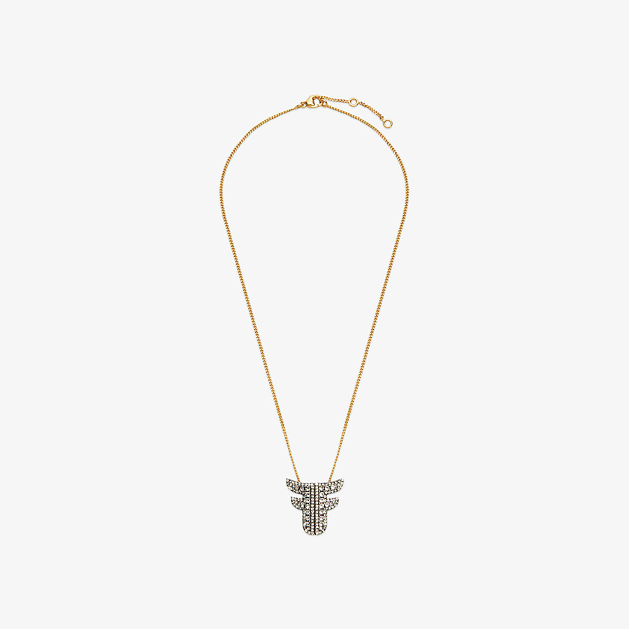 FENDI FFREEDOM NECKLACE - Gold and palladium coloured necklace - view 1 detail