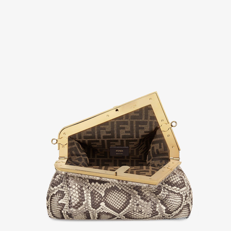 FENDI FENDI FIRST MEDIUM - White python leather bag - view 4 detail