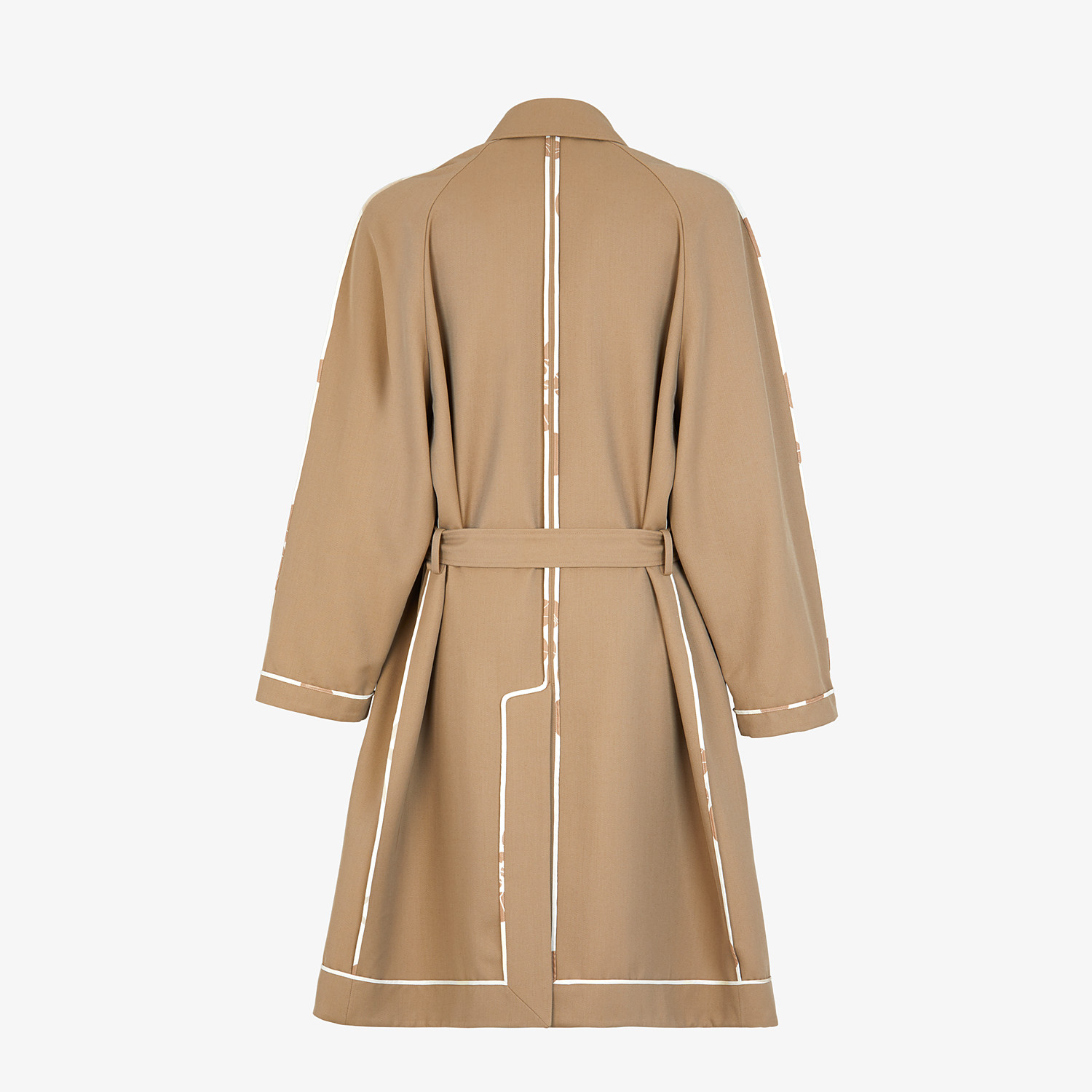 FENDI TRENCH COAT - Brown twill overcoat - view 2 detail