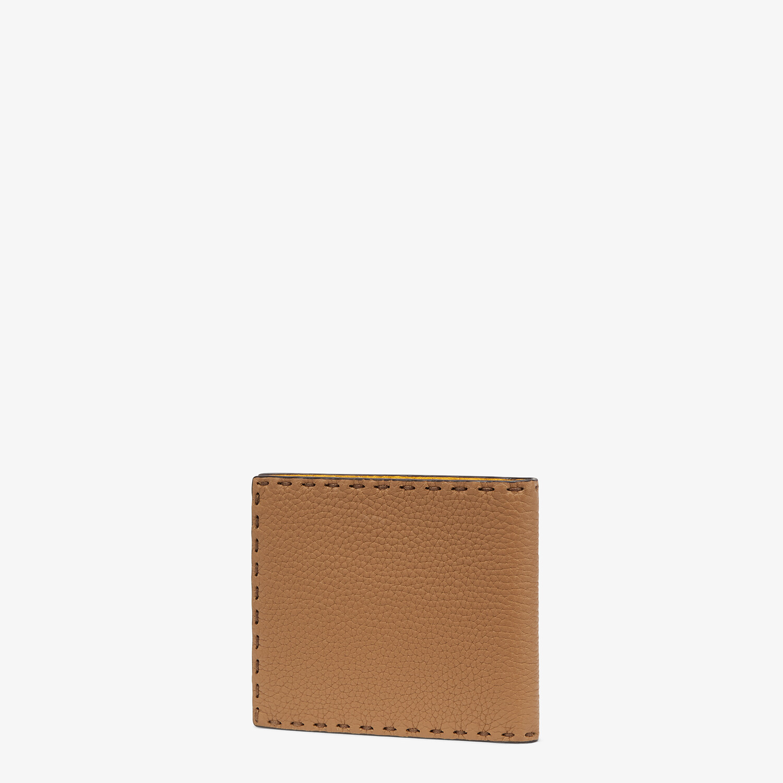 FENDI WALLET - Beige leather bi-fold wallet - view 2 detail