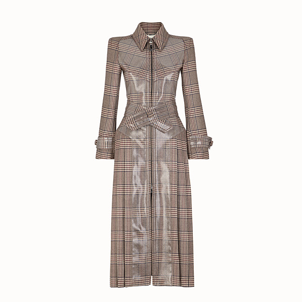 FENDI OVERCOAT - Prince of Wales check wool overcoat - view 1 small thumbnail