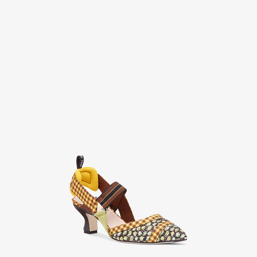 FENDI SLINGBACK - Multicolour cotton Colibrì  - view 2 detail