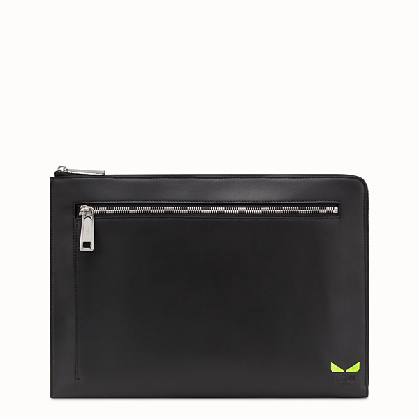 FENDI DOCUMENT CASE - Document case in black leather - view 1 small thumbnail