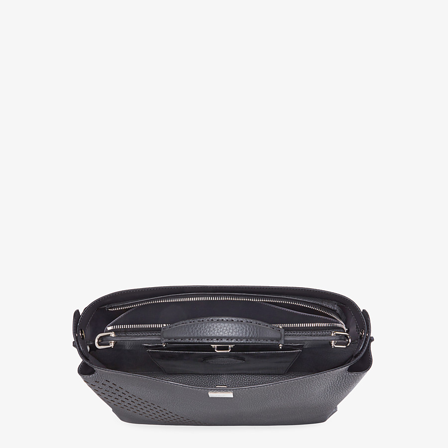 FENDI PEEKABOO ICONIC ESSENTIAL - Grey calf leather bag - view 4 detail