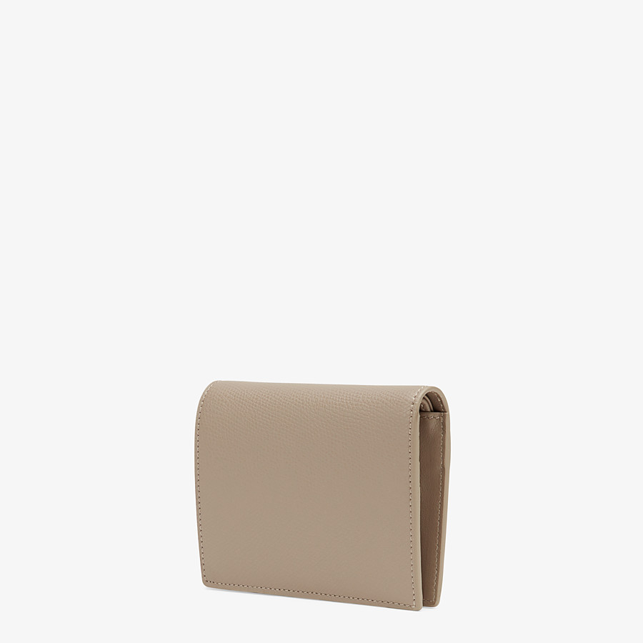 FENDI BIFOLD - Beige compact leather wallet - view 2 detail