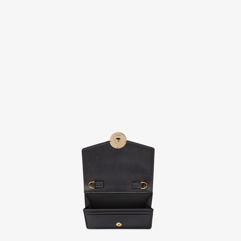 FENDI PORTEMONNAIE MIT TRAGEKETTE - Mini-Tasche aus Leder in Schwarz - view 4 detail
