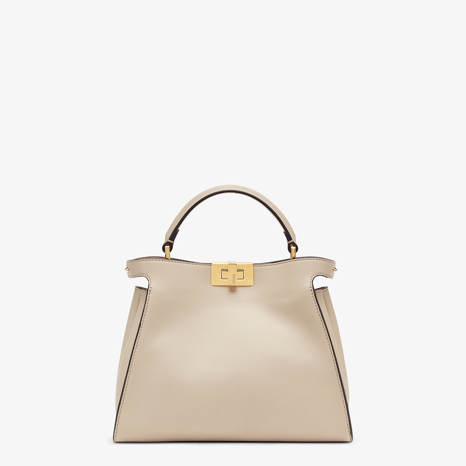 FENDI PEEKABOO ICONIC ESSENTIALLY - Tasche aus Leder in Beige - view 1 detail