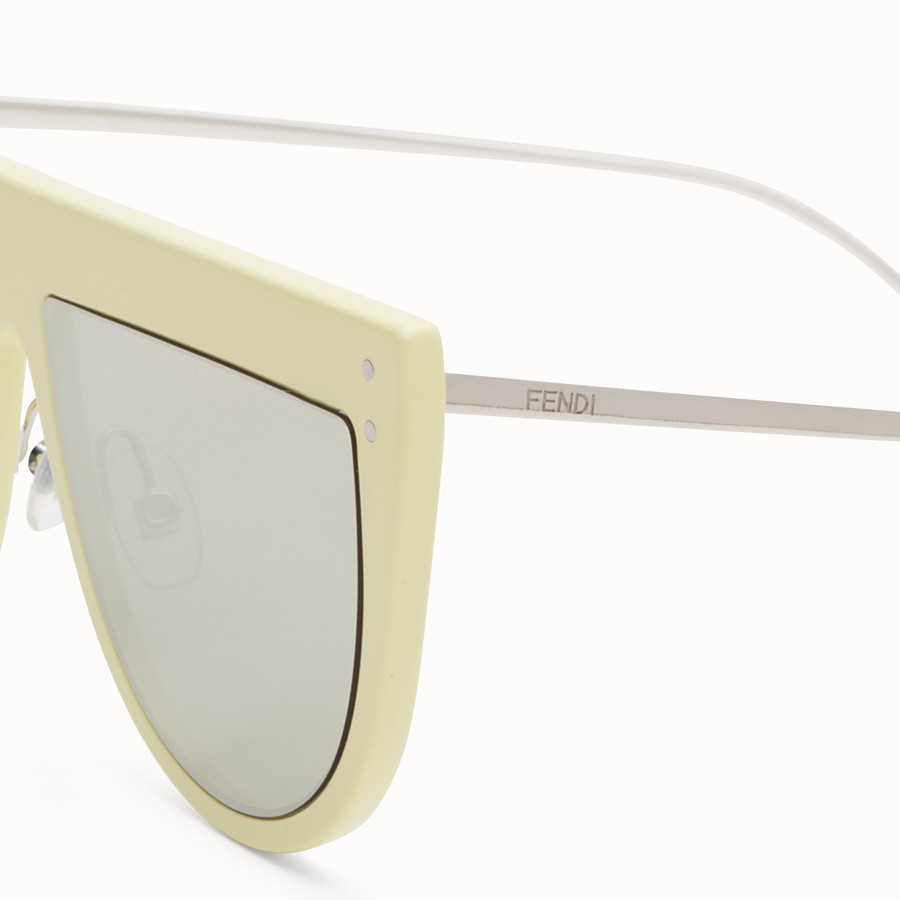 FENDI DEFENDER - Yellow sunglasses - view 3 detail