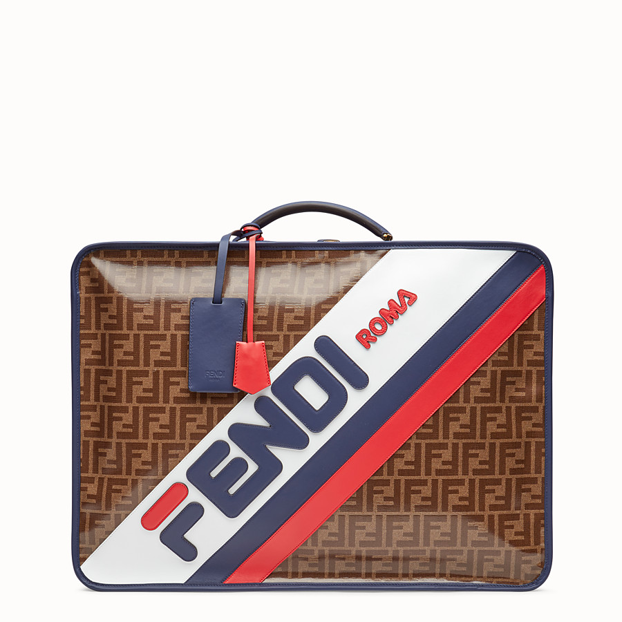 FENDI LUGGAGE - Brown fabric suitcase - view 1 detail