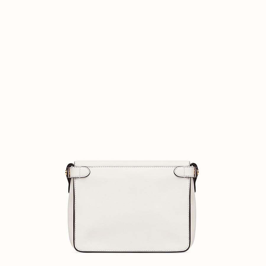FENDI FENDI FLIP SMALL - White leather bag - view 4 detail