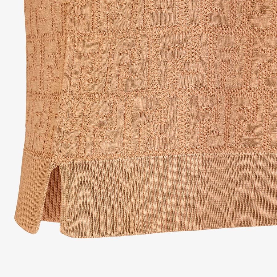 FENDI JUMPER - Beige cotton and viscose jumper - view 3 detail