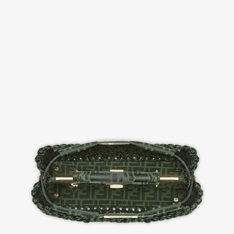 FENDI PEEKABOO ICONIC MEDIUM - Jacquard fabric interlace bag - view 4 detail