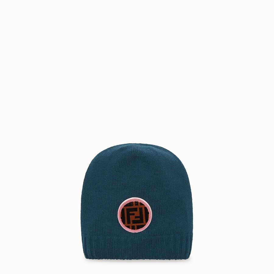 FENDI CHAPEAU - Chapeau en laine et cachemire vert - view 1 detail
