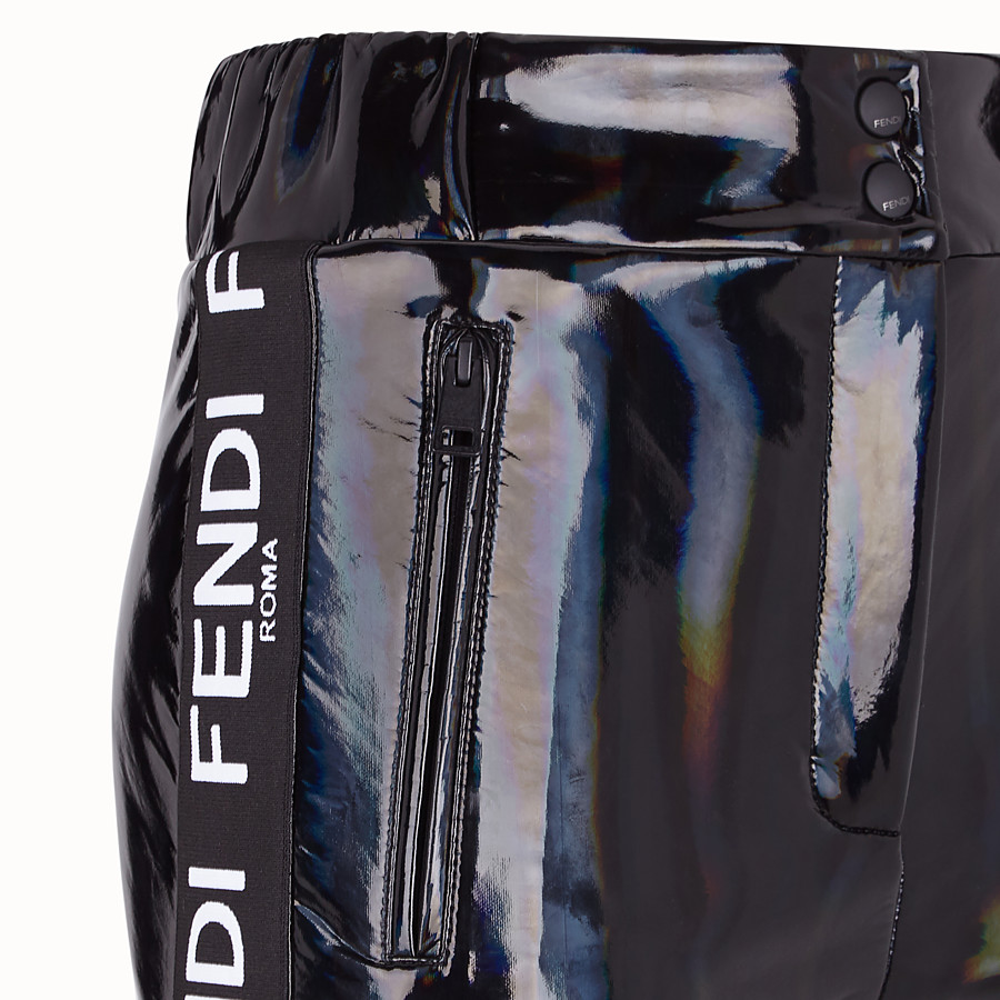 FENDI TROUSERS - Black nylon trousers - view 3 detail