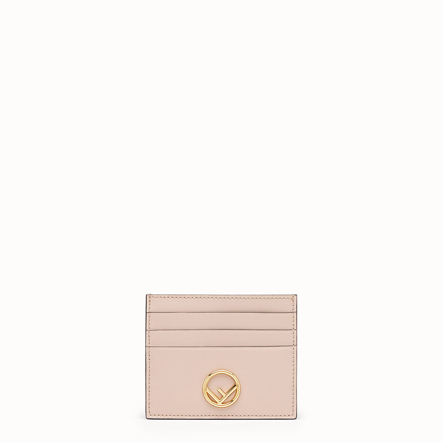 FENDI CARD HOLDER - Pink flat leather card holder - view 1 detail