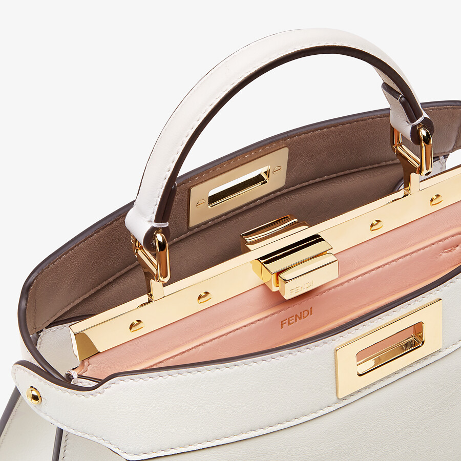 FENDI PEEKABOO ISEEU SMALL - White leather bag - view 6 detail