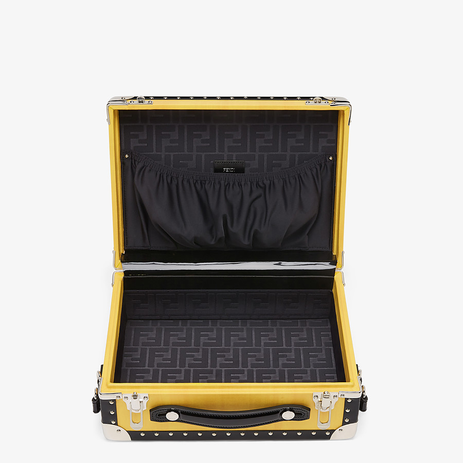 FENDI TRAVEL BAG SMALL - Yellow leather suitcase - view 4 detail