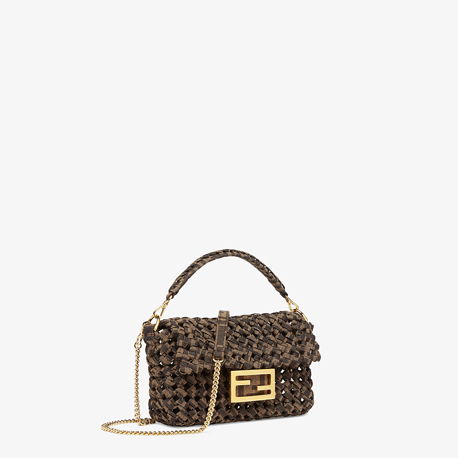 FENDI BAGUETTE - Jacquard fabric interlace bag - view 3 detail