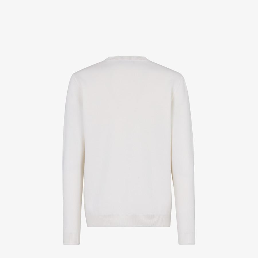 FENDI PULLOVER - Maglia in lana bianca - vista 2 dettaglio