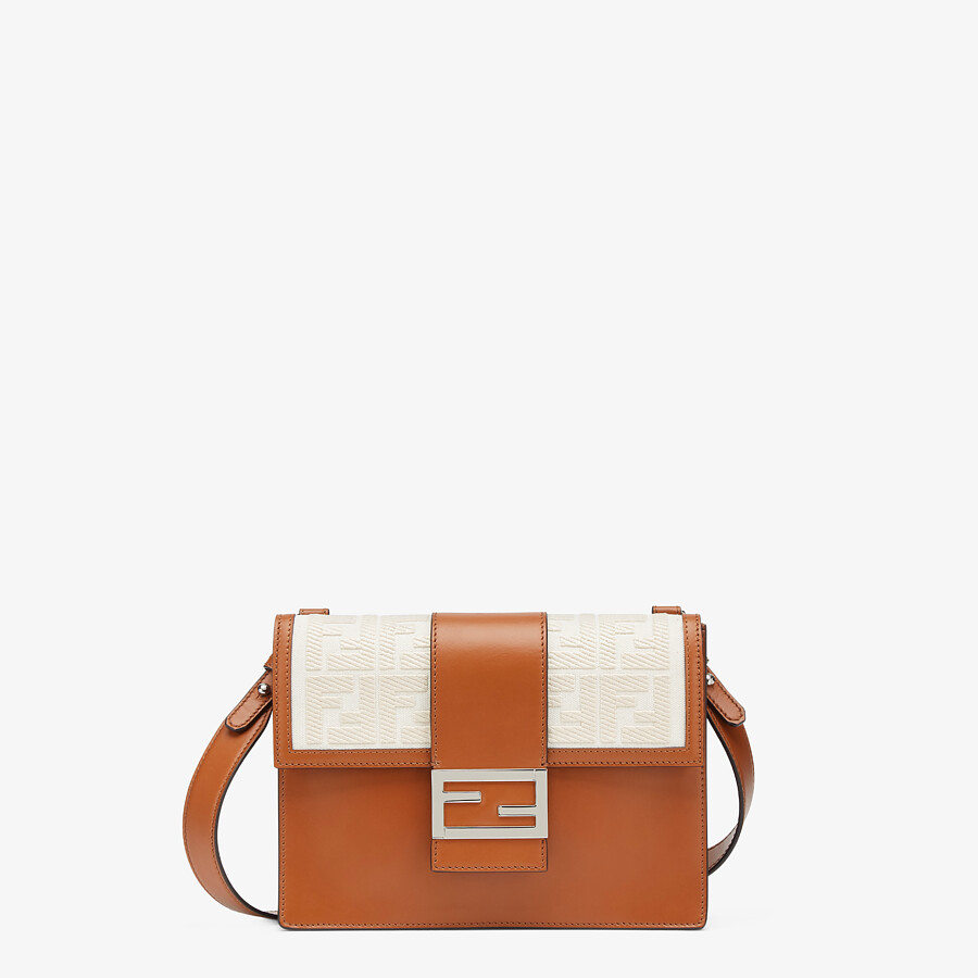 FENDI FLAT BAGUETTE - Brown leather bag - view 1 detail