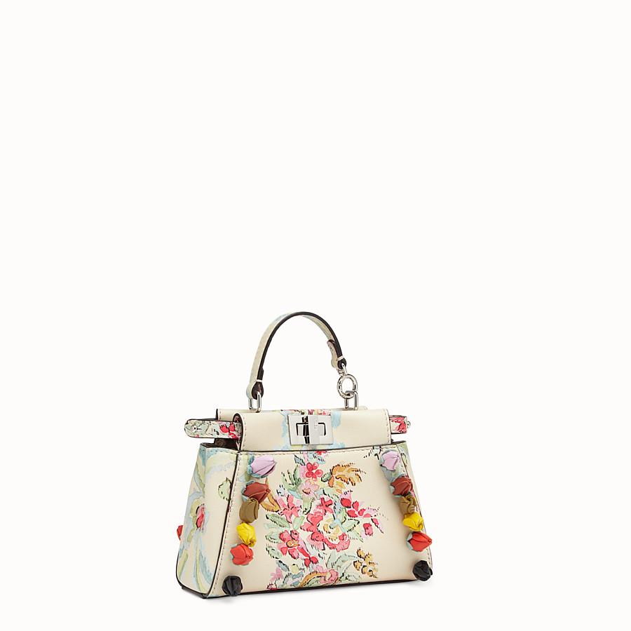 FENDI MICRO PEEKABOO - Micro bag in cream-coloured leather - view 2 detail