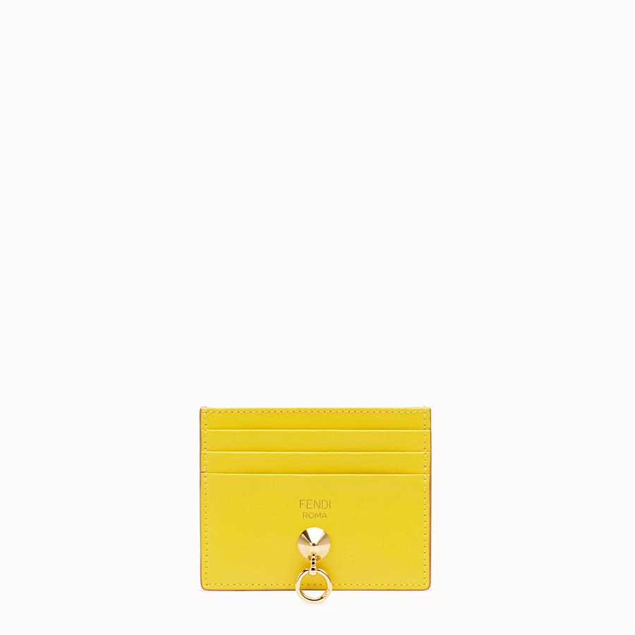 FENDI 카드 홀더 - 멀티 컬러의 플랫 가죽 카드 홀더 - view 1 detail