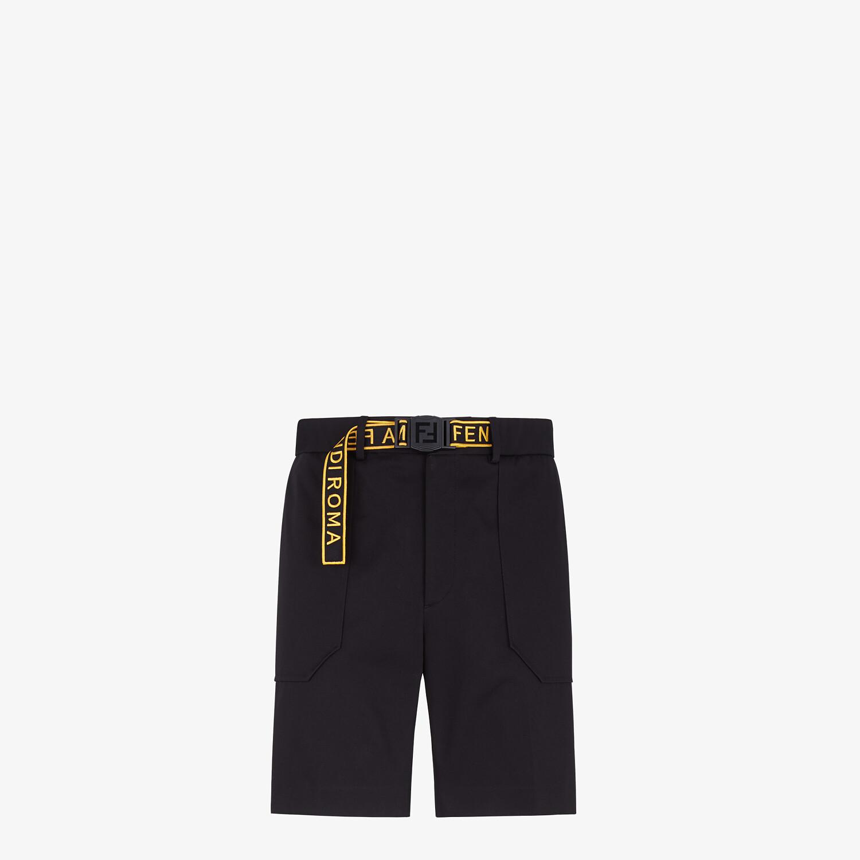 FENDI BERMUDAS - Pants in black gabardine - view 1 detail