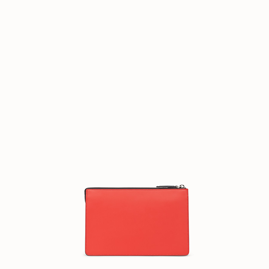 FENDI CLUTCH - Red leather pochette - view 3 detail