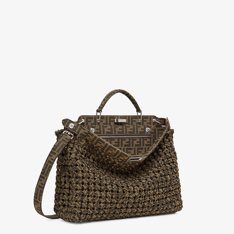 FENDI PEEKABOO ISEEU MEDIUM - Brown fabric bag - view 3 detail