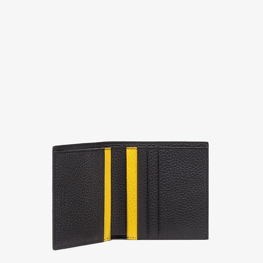 FENDI WALLET - Black leather bi-fold wallet - view 3 detail