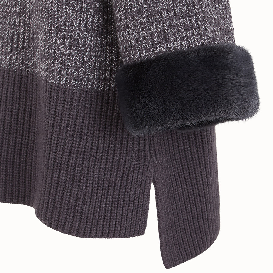 FENDI JUMPER - Grey wool sweater - view 3 detail