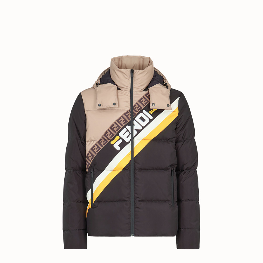 FENDI TITLE - Multicolour nylon down jacket - view 1 detail