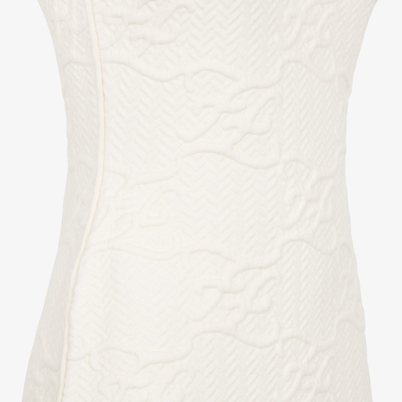 FENDI DRESS - White wool and cashmere dress - view 3 detail